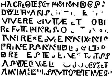 Mindaugo kapo plokštės teksto nuorašas