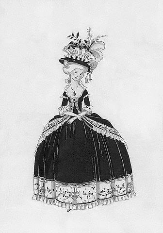Skrybėlė. Moters apranga XVIII a.
