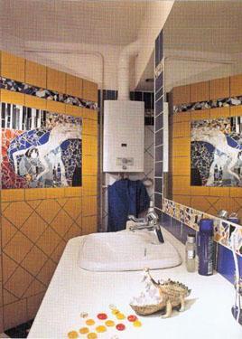 Mozaikos vonios kambaryje