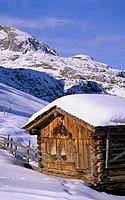 Austrija, kalnų trobelė