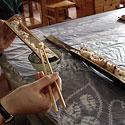 Bambuke troškinti ryžiai (Kinija)