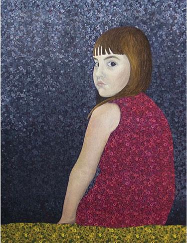 """D.Jasiūnienės """"Mergaitė raudona suknele"""""""