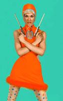 Moteris, mėgstanti apelsinus