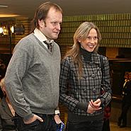 Rimas Šapauskas su žmona Lina
