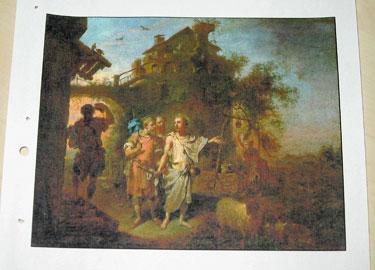 Paveikslo iš R.Mikutavičiaus kolekcijos kopija