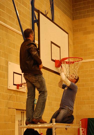 Sulūžusi krepšinio lenta