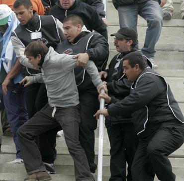 Teniso fanų riaušės Argentinoje