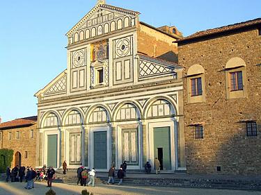 Florencija. Šv. Minijaus bažnyčios fasadas