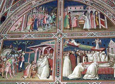Florencija. Freskos bažnyčioje