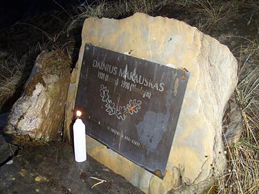 Dainiaus Makausko memorialas Daulagiryje