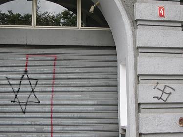 Išniekintas žydų bendruomenės pastatas Vilniuje