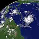 Palydovinė tropinės audros nuotrauka