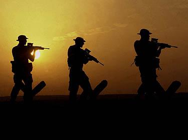 Britų jūrų pėstininkai, kariuomenė
