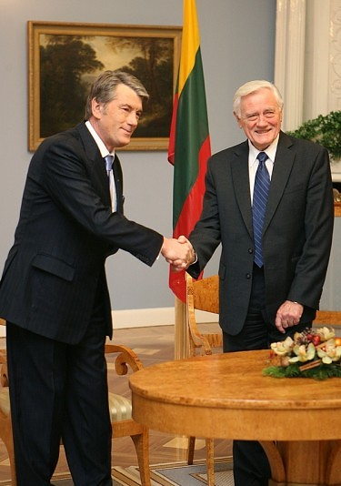 Viktoras Juščenka ir Valdas Adamkus