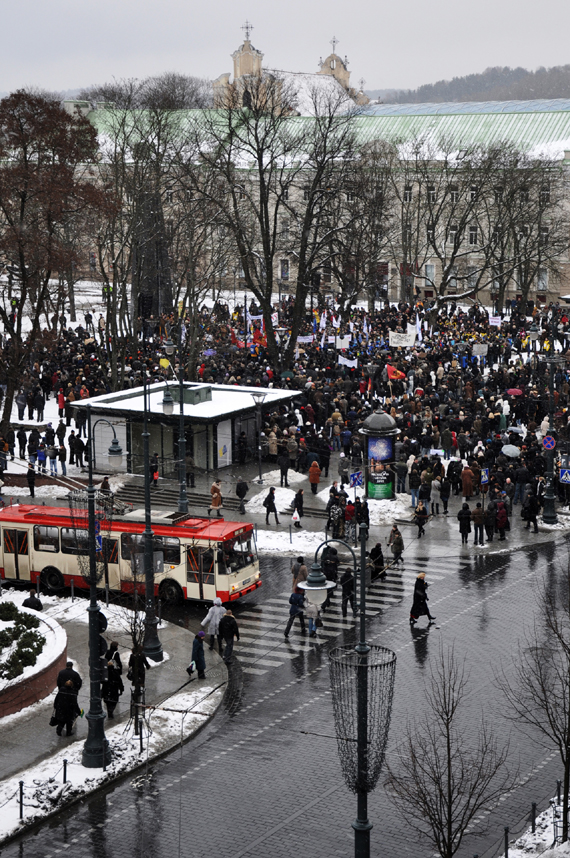 Protestas prie Vyriausybės