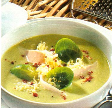 Briuselio kopūstų sriuba su sūriu