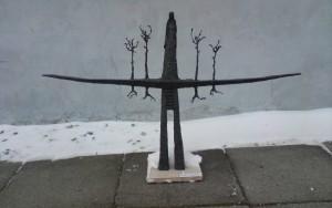 Eriko Daugulio skulptūra Veliuonai