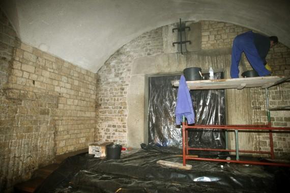 Vavelio pilies kripta, kurioje bus laidojami Kaczynskiai