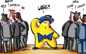 Europiukas stebi frakcijas EP. R. Daukanto pieš.