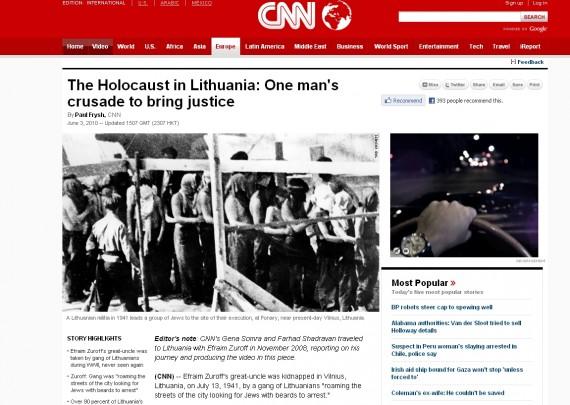 E.Zuroffas: kaltės dėl Holokausto Lietuva galės atsikratyti per 100 metų