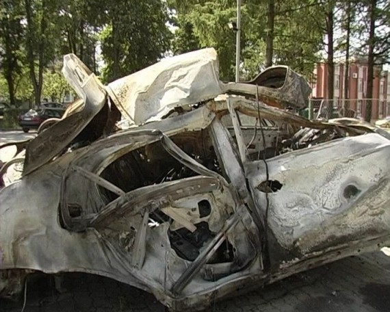 В лесу серьезно обгорел водитель BMW