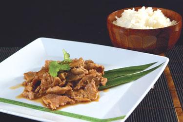 Tailandietiški patiekalai. Kiauliena medaus padaže