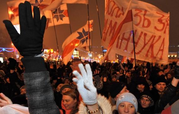 Protestas Minske po prezidento rinkimų 2010