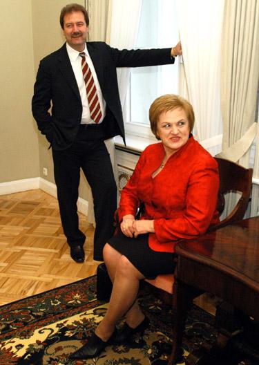 V.Uspaskichas ir K.Prunskienė Prezidentūroje