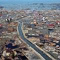 Indonezijos provincijos pakrantės vaizdai po praūžusio cunamio