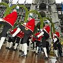 Miunchene šokamas tradicinis statinių gamintojų šokis