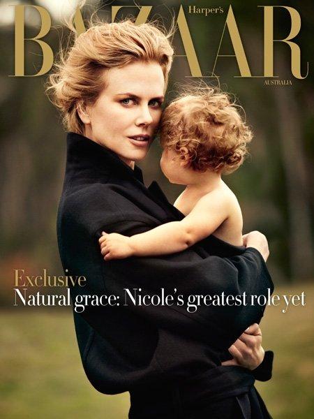 Nicole Kidman su įdukra Faith
