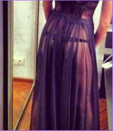 ФОТО: Агния Дитковските нарядилась в прозрачное платье