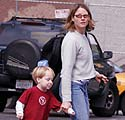 Jodie Foster su sūnumi Kitu