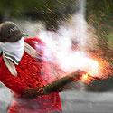 Studentas uždegė savadarbį sprogmenį