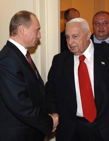 V.Putinas ir A.Sharonas