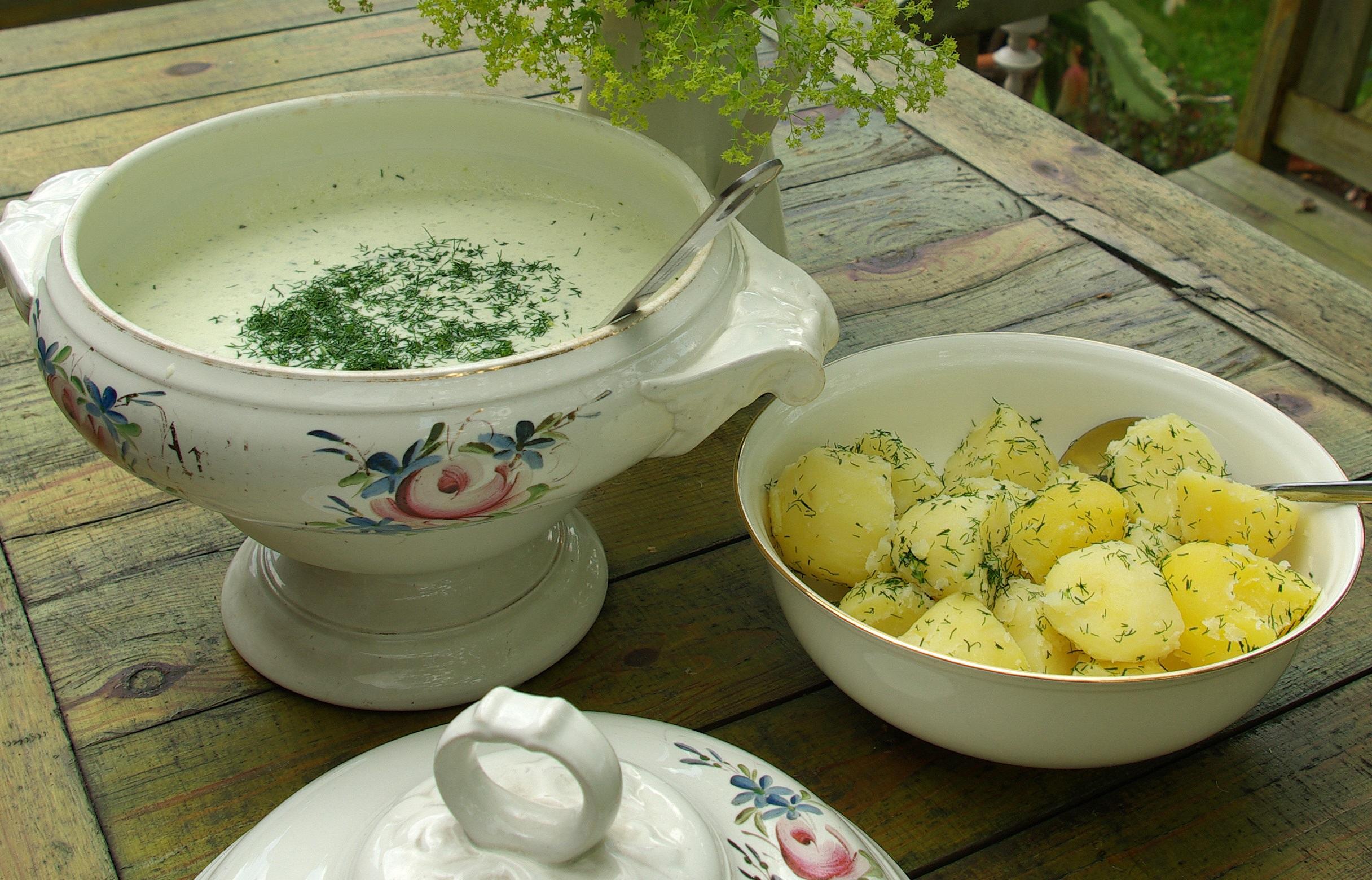 Nomedos Marčėnaitės ruošta šalta česnakinė sriuba