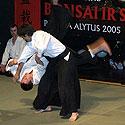 Tarptautinė bonsai ir suiseki paroda Alytus 2005. Aikido klubo pasirodymas