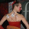 Margaritos Sajetos piešinys ant kūno (body art)