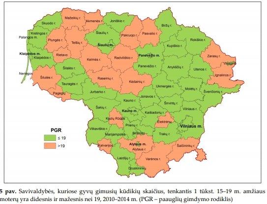 """""""Gimdymo paauglystėje raida ir teritorinė diferenciacija Lietuvoje"""" (V. Tretjakovos nuotr.)"""