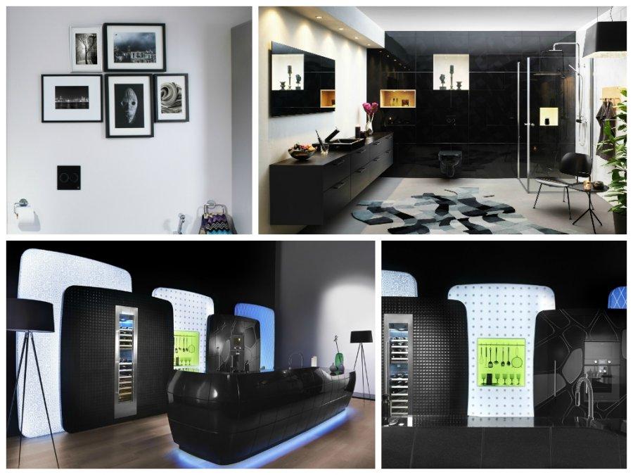 dirbti iš namų juodos spalvos