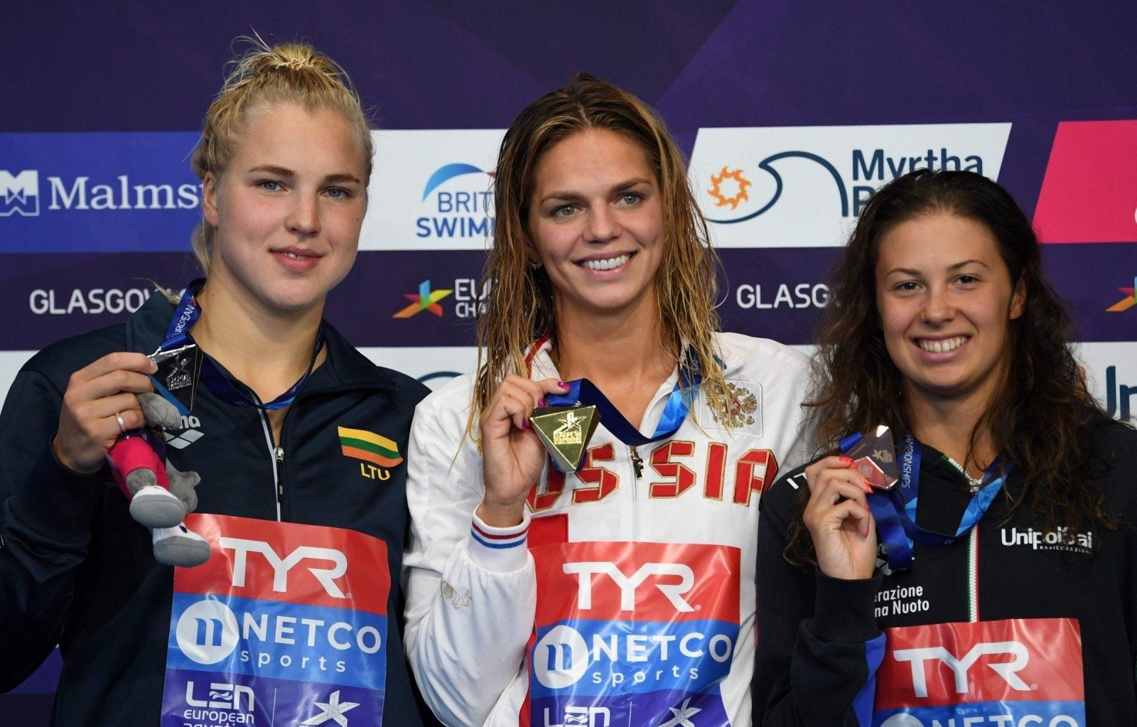 Россиянка Ефимова завоевала золотоЧЕ поплаванию надистанции 100м брассом