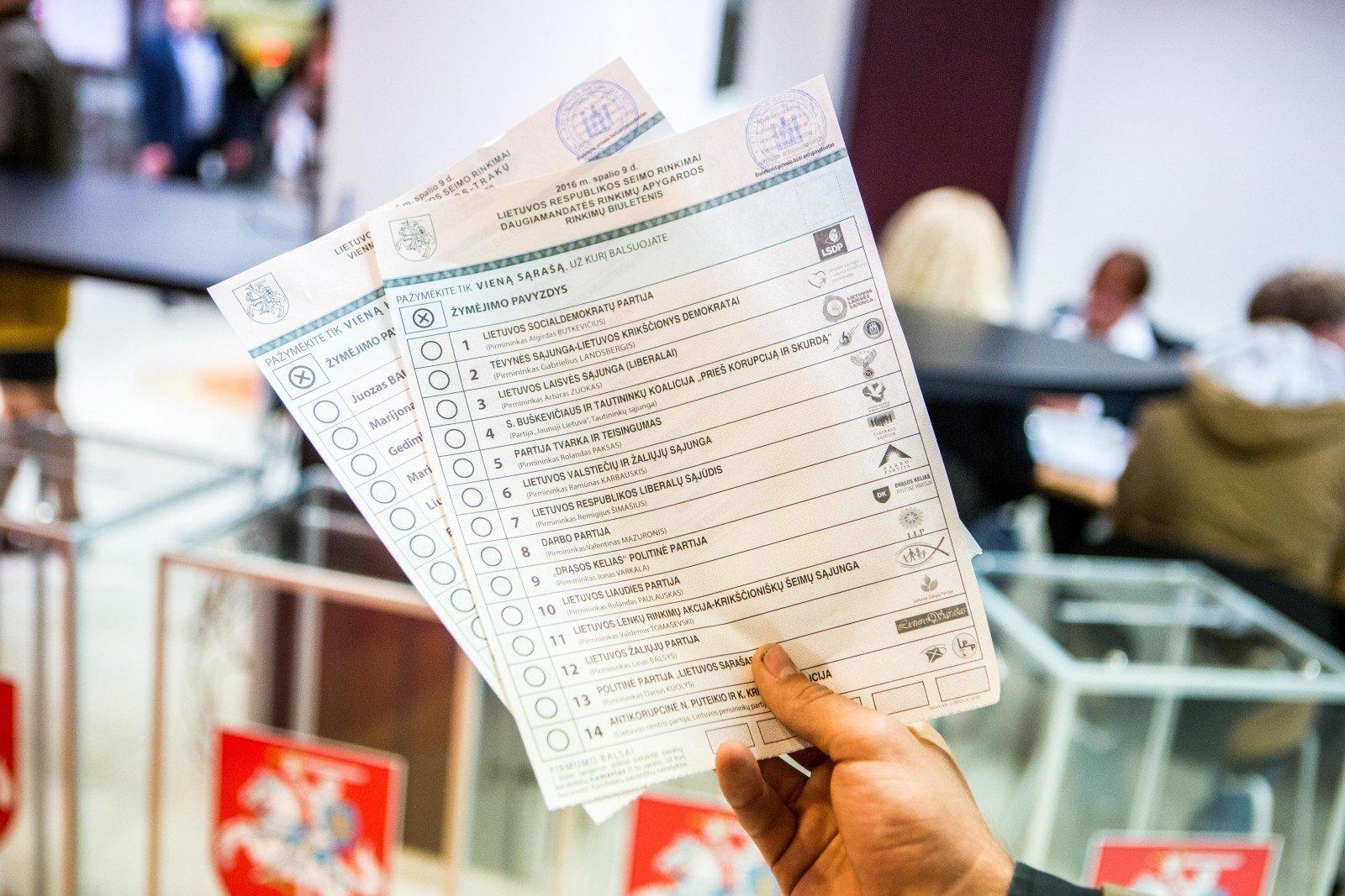 Главизбирком Литвы подсчитал всех справом голоса— таких неменее 2,5 млн.