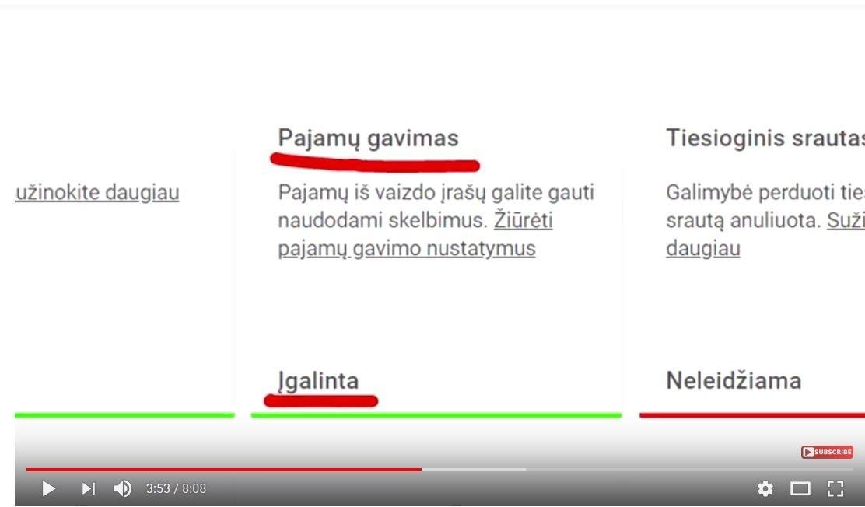 kaip uždirbti is youtube lietuvoje)