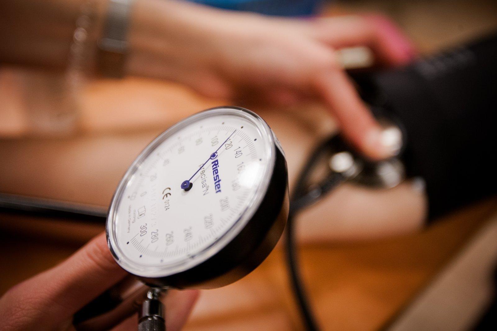 hipertenzija spaudimas ryte