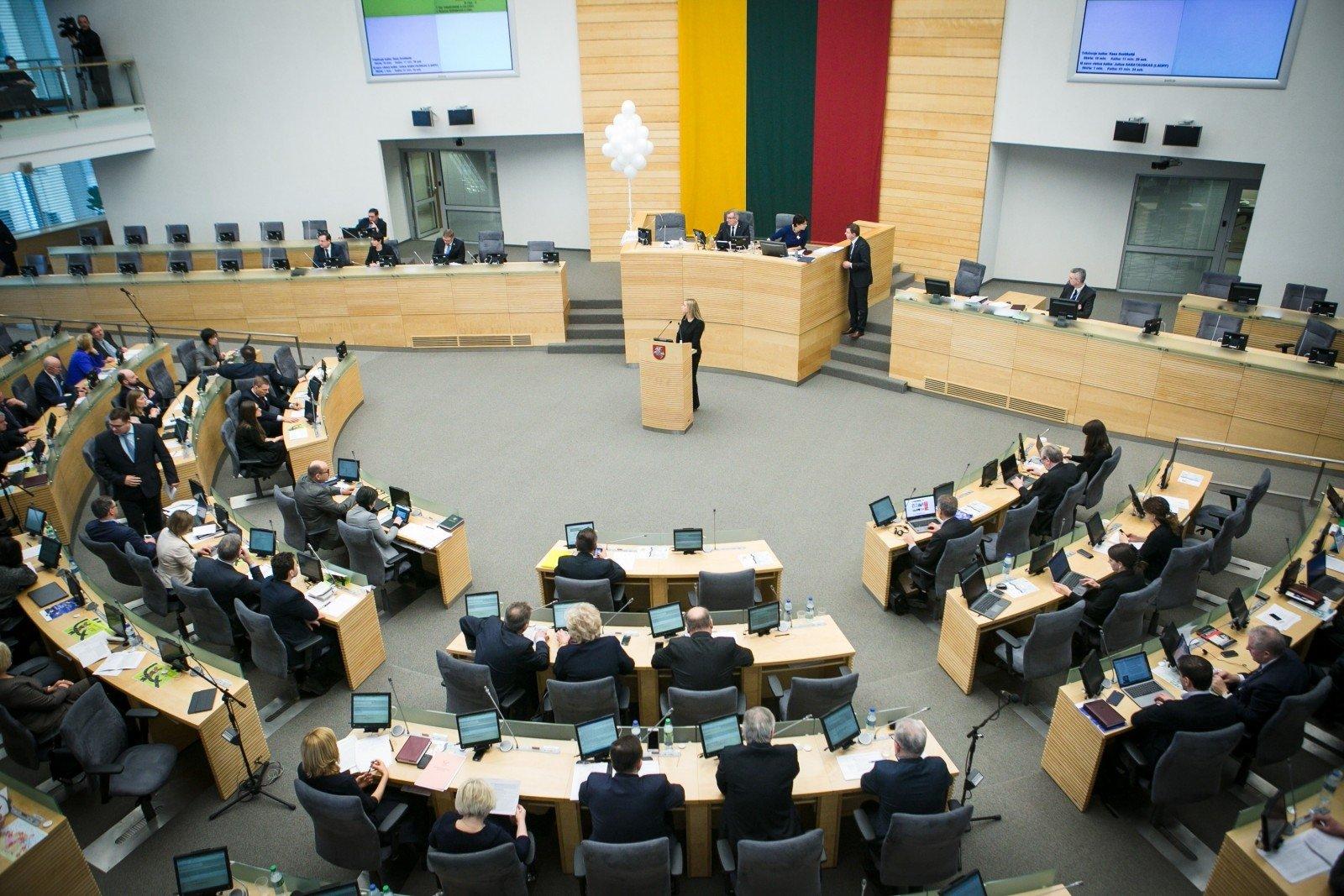 Спикер сейма Литвы предложил снизить число парламентариев