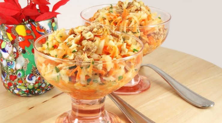 Салат из топинамбура с
