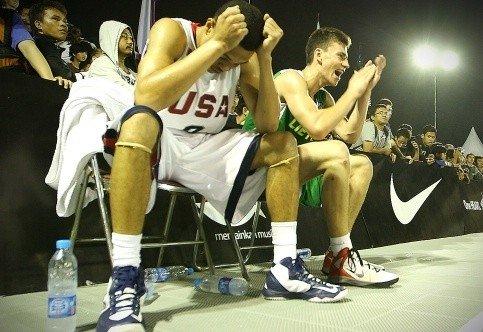 Pergale prieš amerikiečius džiaugiasi Justas Vazalis (fiba.com nuotr.)