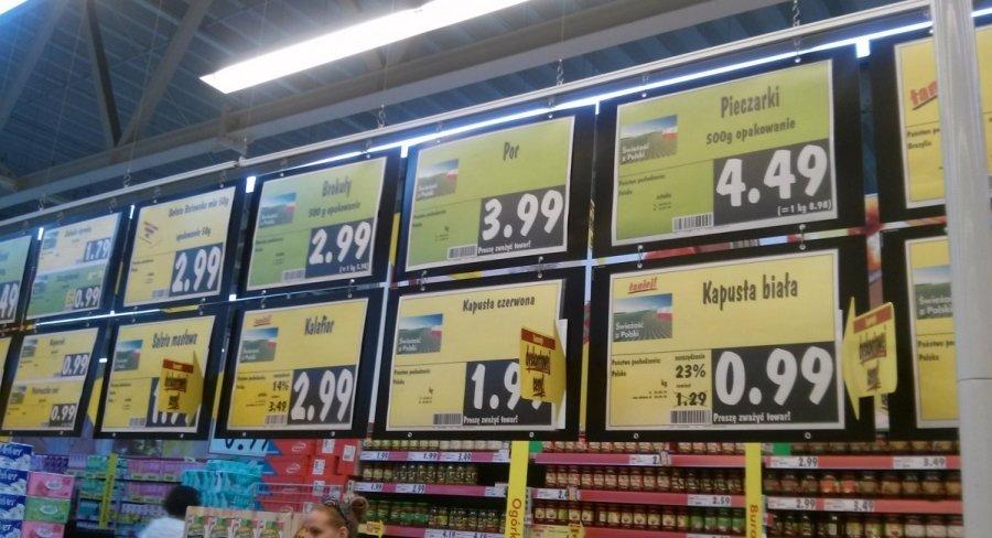 Maisto prekiu kainos lenkijoje