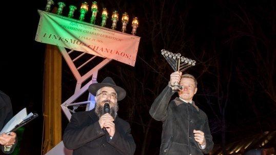 Rabbi Sholom B. Krinsky and Vilnius Mayor Remigijus Šimašius