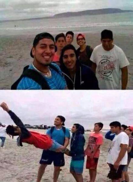 Kai negali įpirkti selfių lazdos